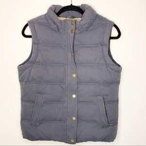 Boded Grey Zip Up Puffer Vest Size 8